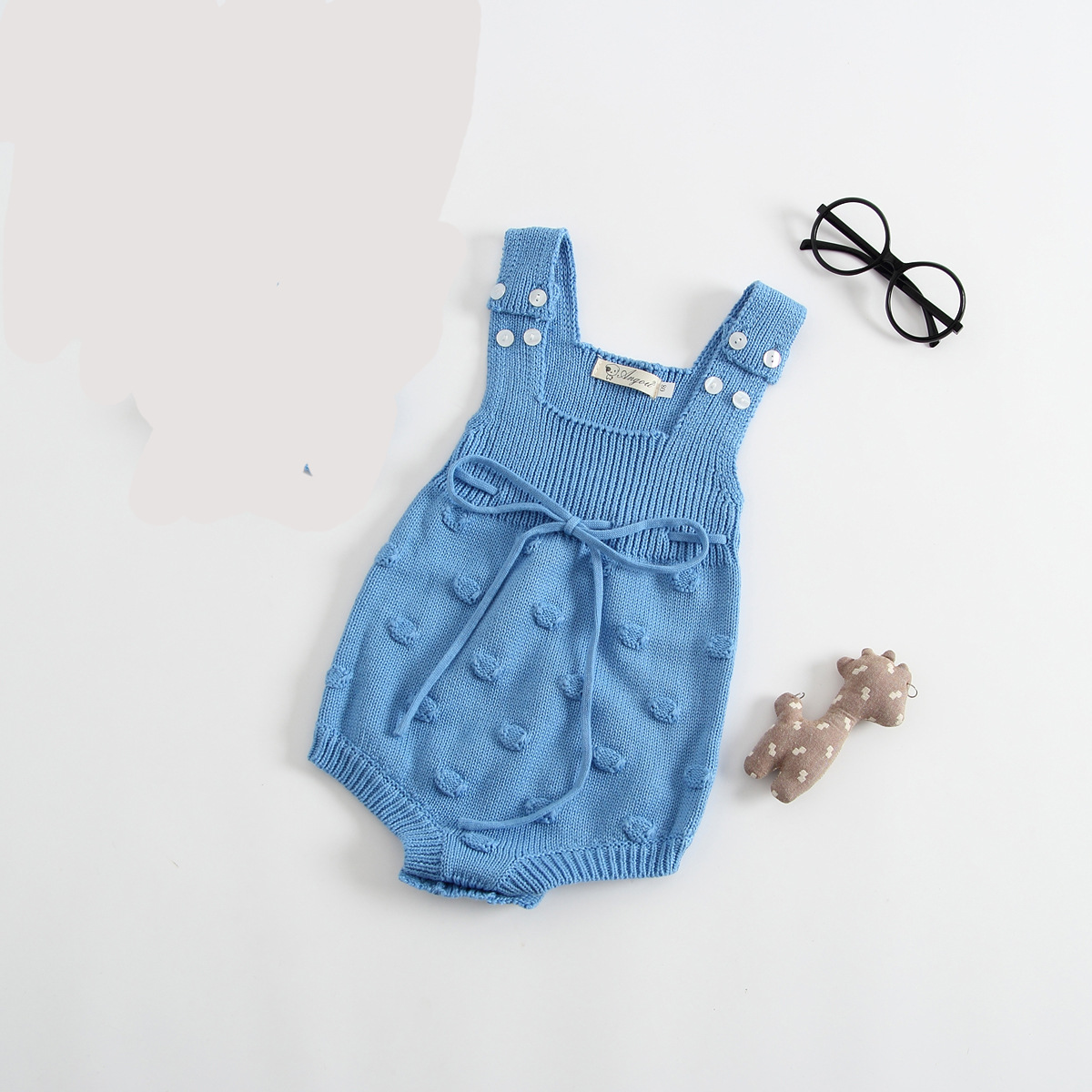 e220a145a1c Baby knitted Bubbles Rompers Newborn Kid Baby Girls Wool Knitting Romper  Sleeveless Autumn Jumpsuit Outfit Set Baby Clothes