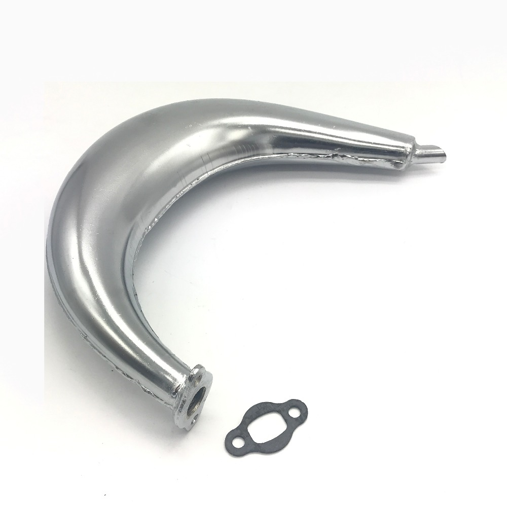 Muffler Exhaust Piep/&Exhaust Muffler Clamp FIT 49cc 66cc 80cc Motorized Bicycle
