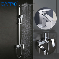 GAPPO Shower Faucet Bathroom Faucet Mixer Bath Tap Mixers Bath Shower Head Brass Rainfall Bath Tub