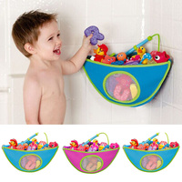 Kids Bath Toys Organizer Storage Bag With Suction Cup Waterproof Hanging Wall Storage Bag Baby Tub Toys Organizer Baby Care