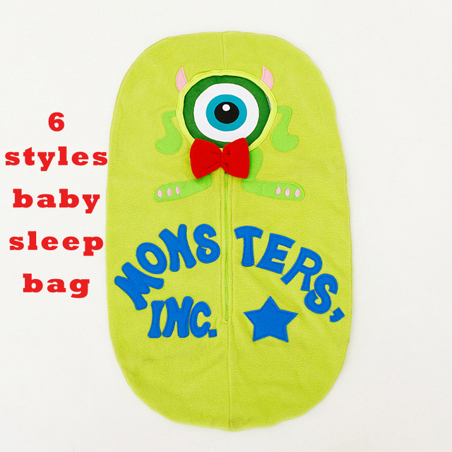Baby Sleeping Bag Cartoon Minnie Envelope Winter Sleep Sack Cotton Infant Cocoon Baby Swaddle Blankets Slaapzak Baby Schlafsack