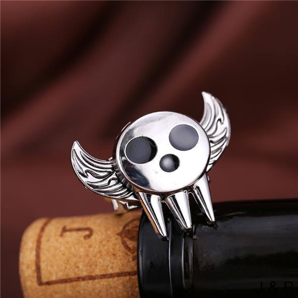 SOUL EATER Anime Keepsake Rings Angel Wings Rotatable Punk Ring Fashion Jewelry Accessories Gift