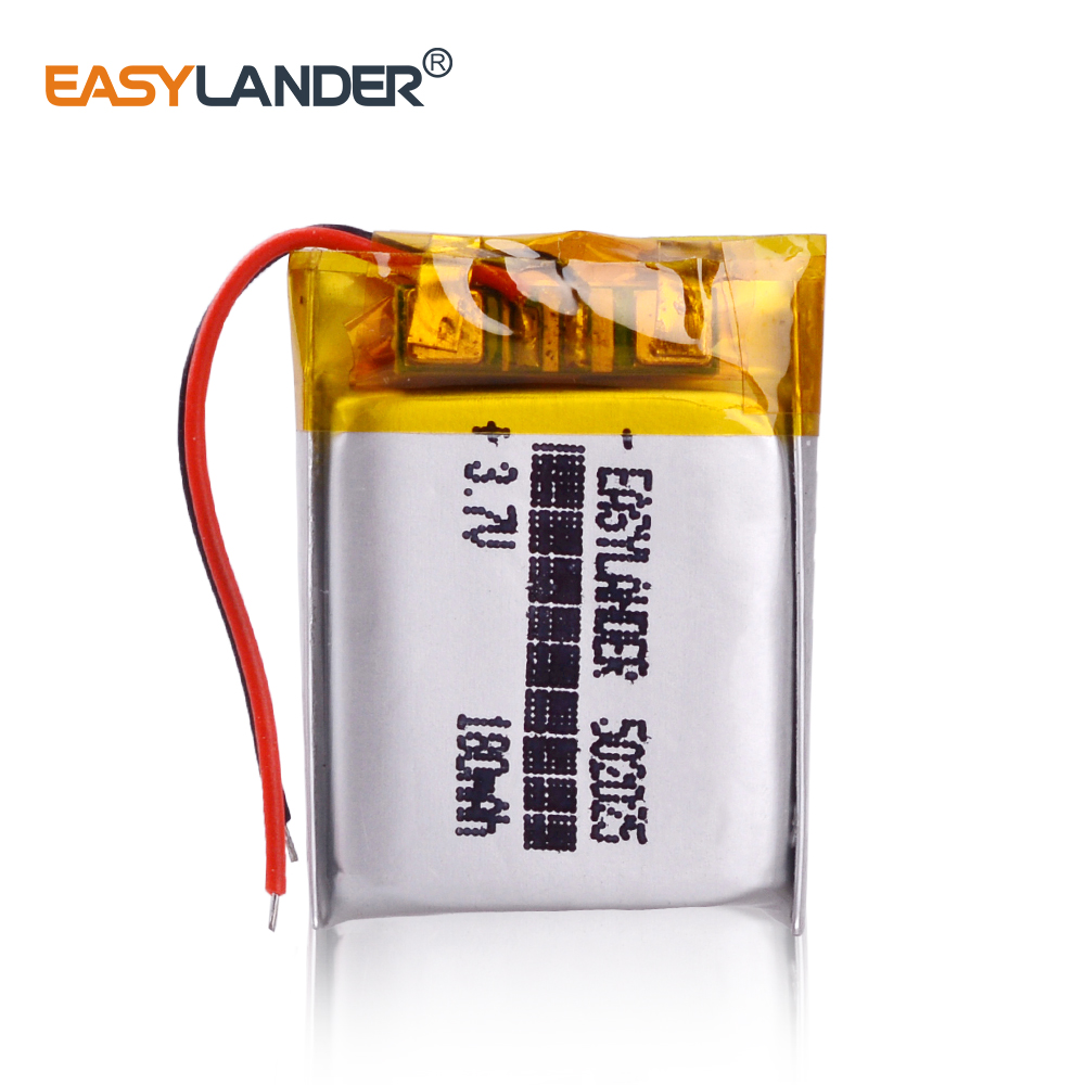 3.7V 180mAh <font><b>502025</b></font> Lithium Polymer Li-Po li ion Rechargeable <font><b>Battery</b></font> Lipo cells For MP3 MP4 toys speaker Tachograph POS image