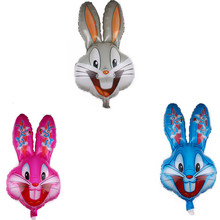 New cartoon bugs bunny aluminum film balloon rabbit animal foil wholesale birthday party decoration