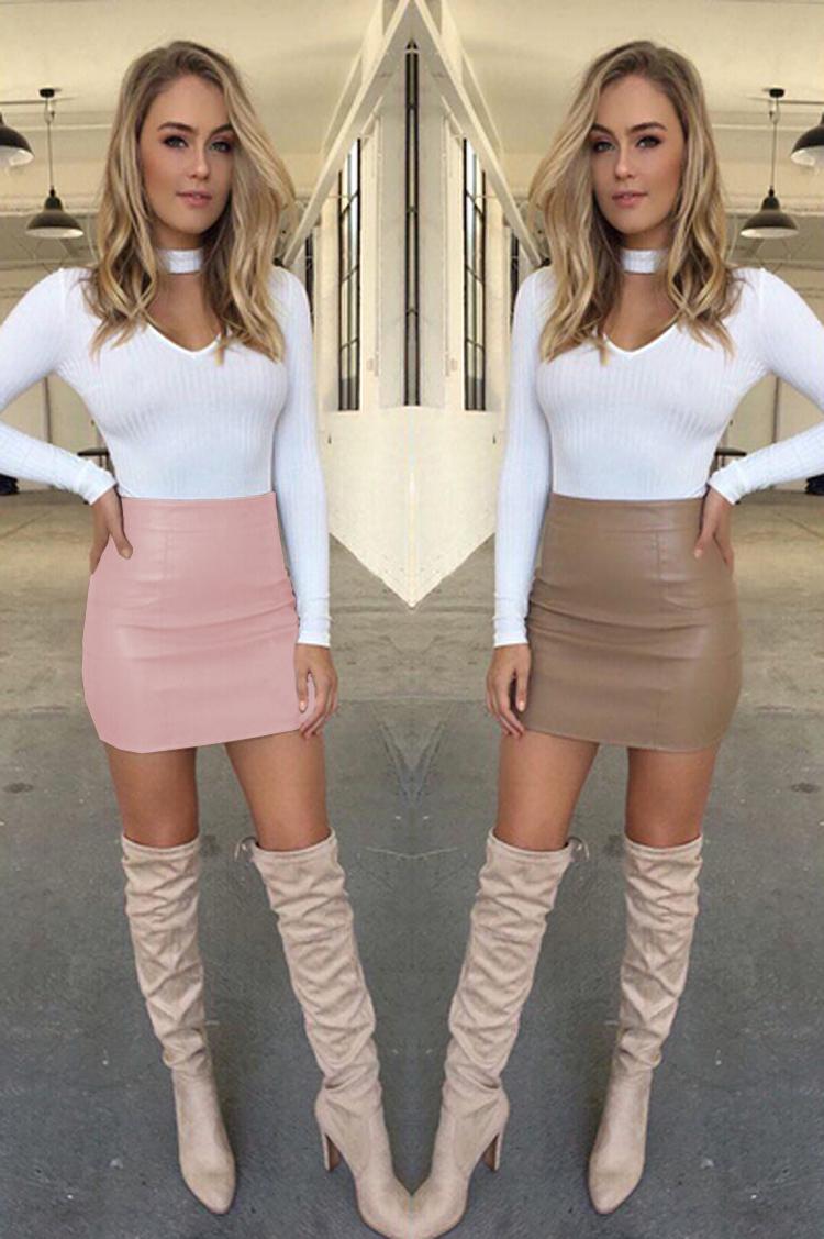 HTB1z2lLOVXXXXcsXXXXq6xXFXXX1 - Women Sexy Leather Short Mini Skirt PTC 133