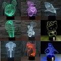 2016 Nueva Creativo Shark LED Niños sala de estar Bedlamp Lámpara de Mesa de Luz Nocturna en 3D En Tres Dimensiones 3D LED Lámpara decora Bulbificación