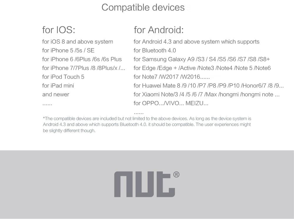 Nut mini Smart Bluetooth Tracker Tracking Key NUT Mini Smart Tracker Finder Tag Tor Child Key Finder Alarm GPS Locator
