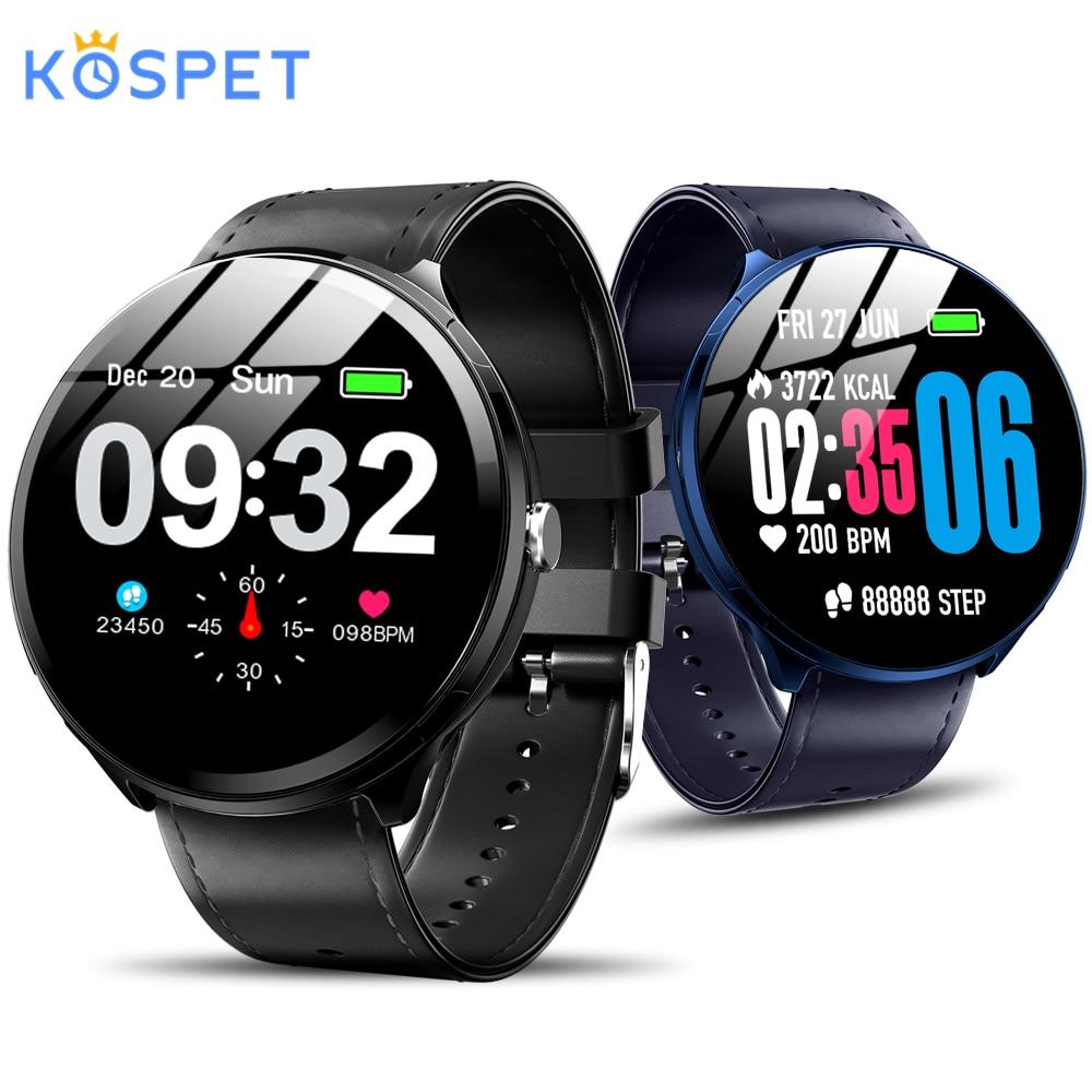 Kospet V12 1.3 pouces verre trempé écran montre intelligente étanche surveillance de la fréquence cardiaque pression artérielle pour hommes femmes smartwatch