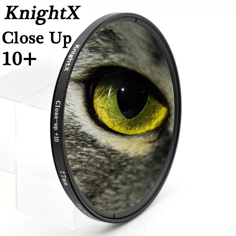 KnightX close up 10 + 52 55 58 67 77mm UV CPL Filter per Sony Pentax Nikon Canon D5200 D5300 D3300 D5500 100D EOS 400D 550D 500D