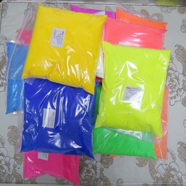 Fluorescerend poeder, fluorescerende pigment, nagellak pigment, 1 lot = 14colors * 1 kg/kleur, totaal 14 kg, gratis verzending door Fedex, veel gebruikt