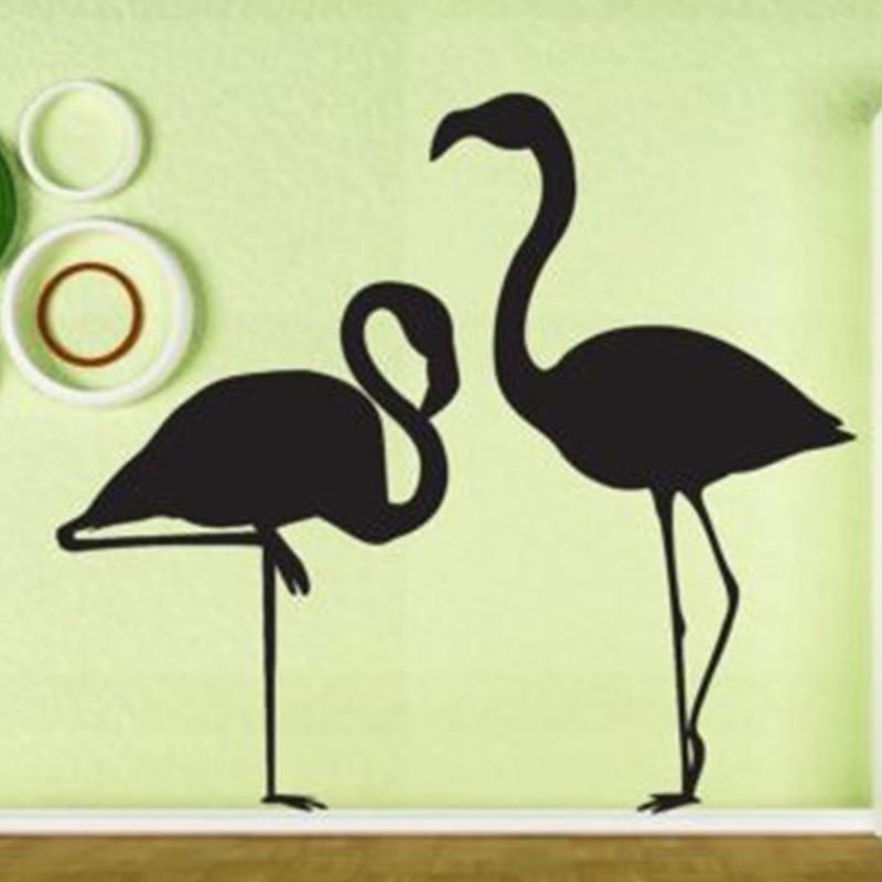 New Beautiful Flamingo Bird Vinyl Wall Sticker Home Decor Decoration ...