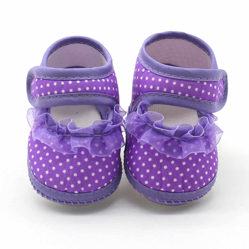 รองเท้าเด็กรองเท้าเด็กแรกเกิดเด็กทารก Dot ลูกไม้ Soft Sole Prewalker สบายๆรองเท้าเด็กวัยหัดเดินรองเท้า Bebek Ayakkabi