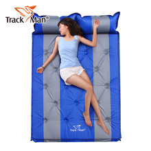 Couple inflatable mattress!3cm thick cushion can be spliced automatic inflatable tent moisture pad mattress multiplayer(China)