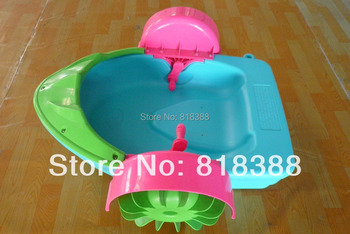 Child hand boats electric bumper boat inflatable pool water ball water roller ball toy