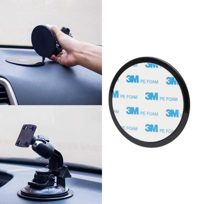 Dashboard Mobil Cangkir Hisap Base Adhesive Disc untuk Ponsel Tablet GPS Dudukan