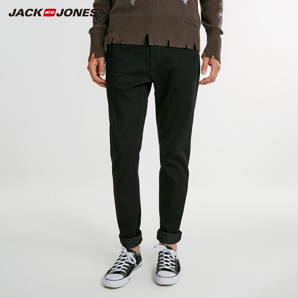JackJones Men's Winter Cotton Stretch Casual   Jeans   Business Casual Slim   Jeans   Classic Trousers Denim Pants Male J|218332590