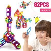 82PCS Regular/Big Size Magnetic Designer Building Construction Toys Set Blocks DIY Magnet Educational Toys for Children