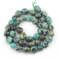 8x10mm African Turquoise Stone Beads Natural Stone Beads DIY Loose Beads For Jewelry Making Strand 15