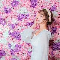 DIY artificial R flower heads silk decorative flower DIY Road led wedding flower Bouquet hotel background wall decor