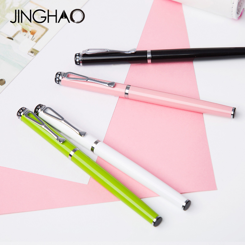 Cute Elegant Candy Color Gel Pen Office Supplies School Stationery Metal Writing Sign Pens with an Original Gift Box 10pcs multicolor gel pens set cute korean stationery pen for school office supplies writing with packaged box by free shipping
