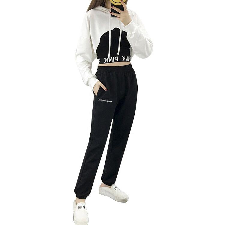 Kpop BLACKPINK The Same Korean Casual Practice Room Hip Hop Loose Exercises Long Pants Women Streetwear Pants Fashion Clothes