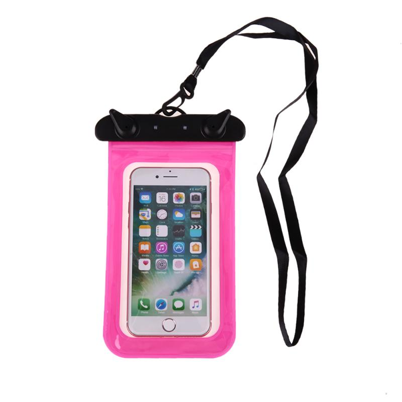 Sealing Waterproof Mobile Phone Bags With Strap Protect Bag Dry Pouch For IPhone Case Cover 5.8inch Smart Phone Swimming Bags