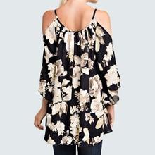 Women's Off Shoulder Floral Print Blouse