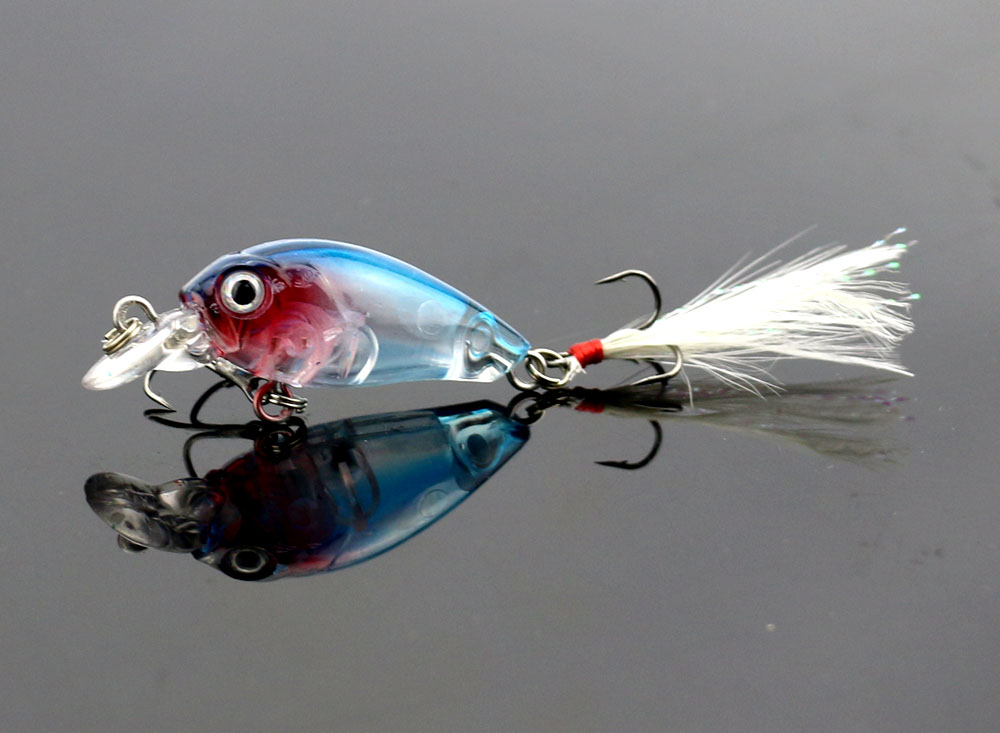 Hengjia crankbait esche da pesca 45 MM / 4G plastica duro manovella - Pesca - Fotografia 6
