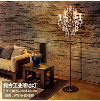 Nordic американских ретро Книга номер торшер кристалл светильники лампы творческая гостиная спальня Напольный Торшер для гостиницы