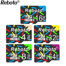 Reboto Colours MicroSD 32GB 64GB Class10 UHS1 Flash Memory Card 16GB 8GB 4GB class6 Micro sd card TF Card for Smartphone Camera