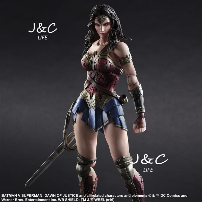 Justice league Superman VS Batman Movie Wonder woman Action Figure 27cm PVC Model Collect Anime Model Toys Juguetes kids toys xinduplan dc comics play arts justice league movie batman bruce wayne movable action figure toys 27cm kids collection model 0271