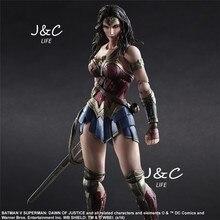 Justice league Superman VS Batman Movie Wonder woman Action Figure 27cm PVC Model Collect Anime Model Toys Juguetes kids toys