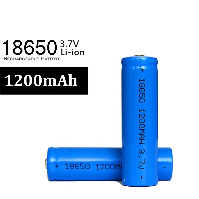 100 pcs/lot Haute Capacité 1200 mah 18650 Batterie 3.7 v Li-Ion Batterie Rechargeable Batteries Au Lithium POUR lampe de Poche LED