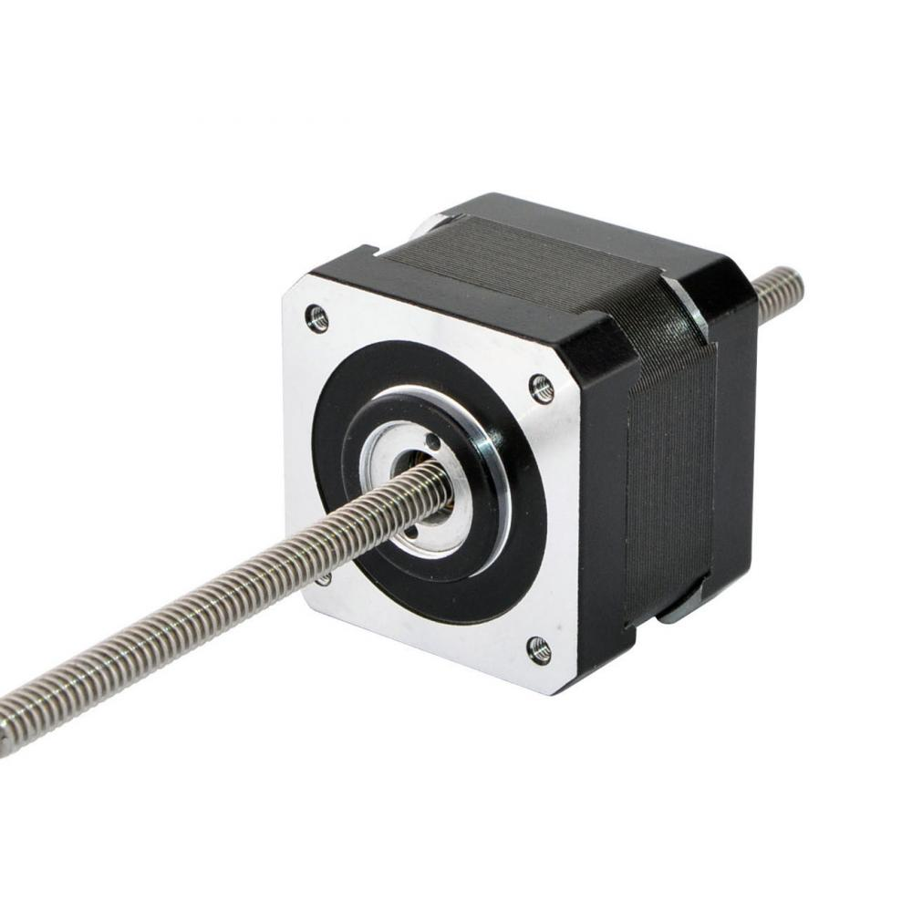 Precision Linear Actuator Nema 17 Non-captive Stepper Motor 34mm Stack 1.5A Screw Length 150mm for Z Axis or CNC MachinePrecision Linear Actuator Nema 17 Non-captive Stepper Motor 34mm Stack 1.5A Screw Length 150mm for Z Axis or CNC Machine