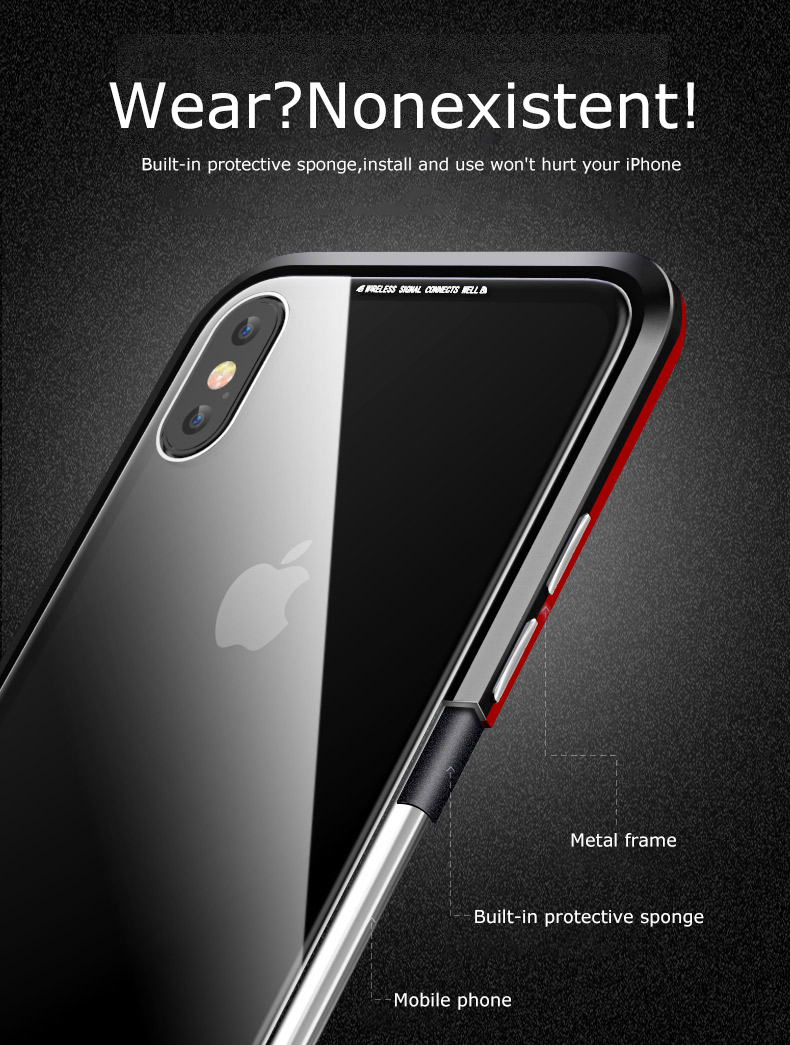 LUPHIE magnetic case for iPhone X XS Max XR 7 8 magnet case (4)