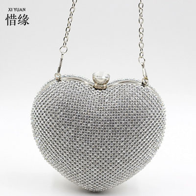 XIYUAN BRAND 2017 New fashion diamond gold bridal bag banquet package ladies bridesmaids package good gift handbags for girls