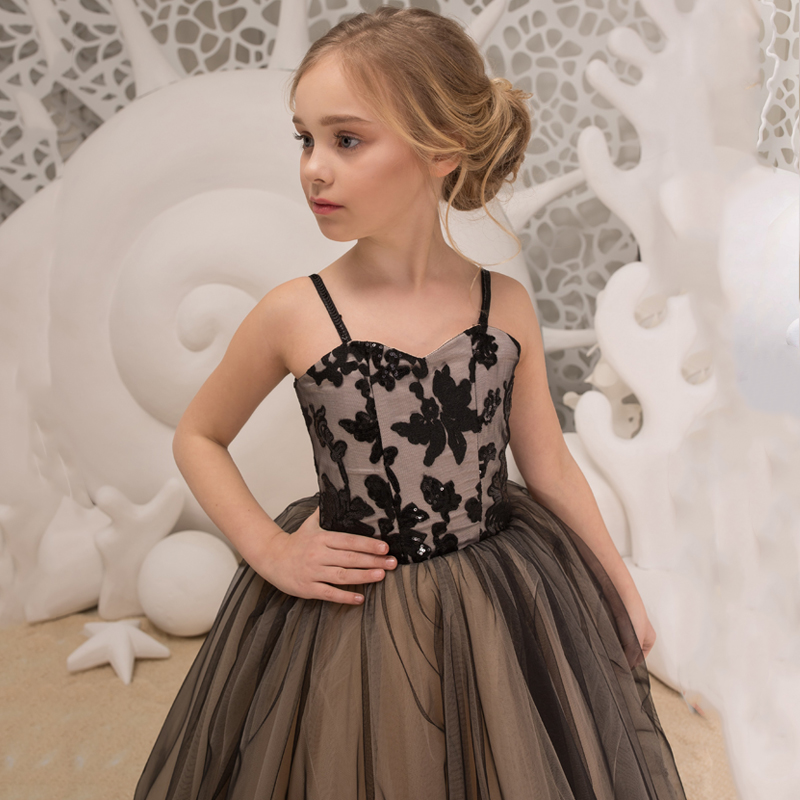 New Style   Flower     Girls     Dresses   for Party and Wedding Knee Length Lace Tulle   Dress   vestido daminha