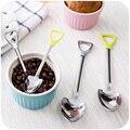 Creative spade shape stainless steel spoon coffee spoon stirring spoon long handle