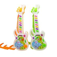 Electronic Guitar Toy Rhyme Developmental Plastic Guitar Musical Instrument Toy For Kids Gift