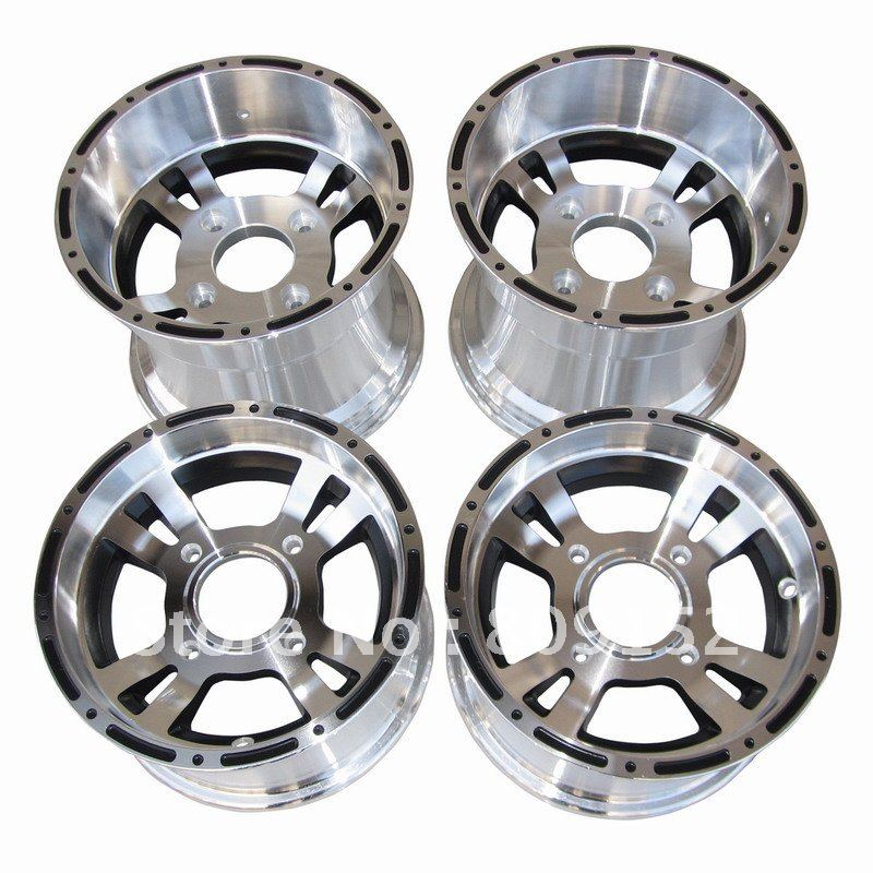 ATV Aluminum Alloy Rims front and rear 4pcs of 1 set 10x8inch and 10x5 5inch