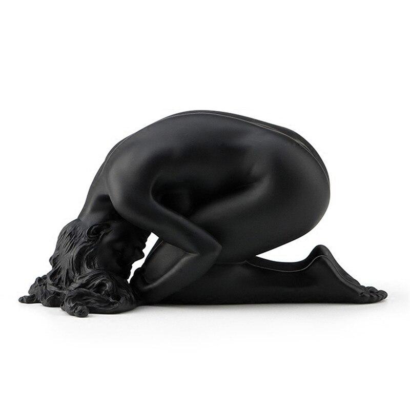 Gravure à la main Œuvres D'art Contemporain Femelle Nude Art Creative Résine Décoration Sculpture Décoration de La Maison Ameublement De L3150