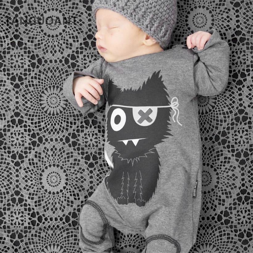 TANGUOANT Hot Sale Cartoon Baby Boy Clothes Long Sleeve Baby Rompers Newborn Cotton Baby Girl Clothing Jumpsuit Infant Clothing new baby rompers autumn baby boy girl jumpsuit star and moon smiling long sleeve newborn infant clothing ropa recien nacido