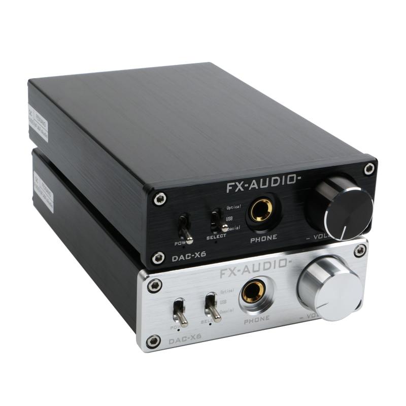 fx שמע dac x6 feixiang - FX-AUDIO DAC-X6 HiFi 2.0 Digital Audio Decoder DAC Input USB/Coaxial/Optical Output RCA/ Headphone Amplifier 24Bit/96KHz DC12V
