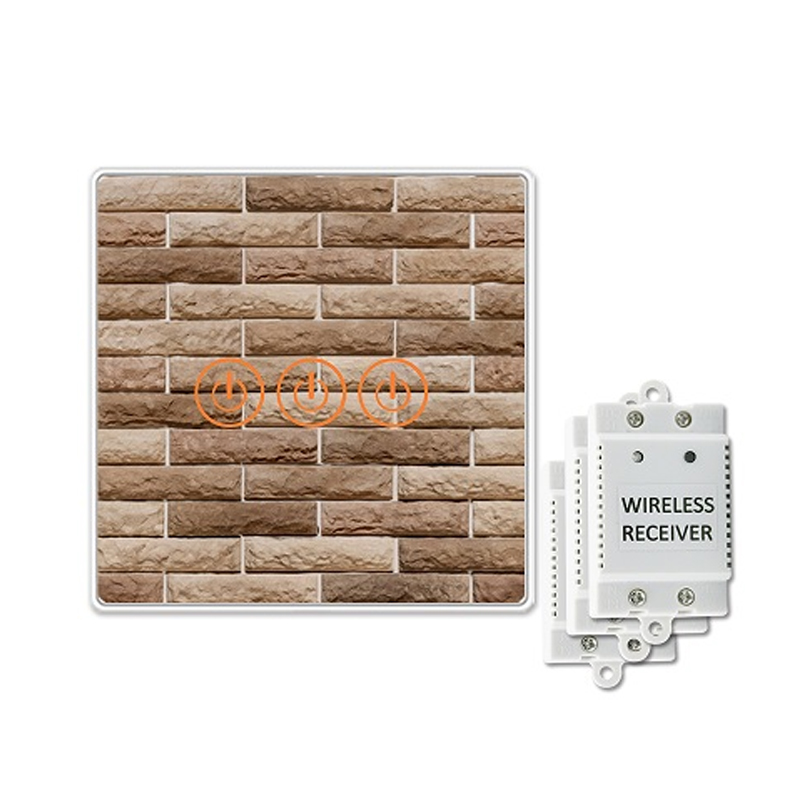 Saful Wireless Wall Switch Waterproof 150M Remote Control 240V Tempered Glass Panles On/Off Light Led Home Touch Switch 3 ways on off 220v 240v light digital wireless wall switch remote control new g08 drop ship