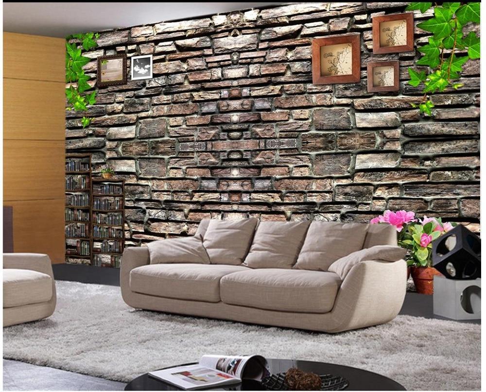 Customized 3d Photo Wallpaper 3d Wall Murals Wallpaper Stone Mosaic TV  Backdrop Backdrop Bar Wall 3d