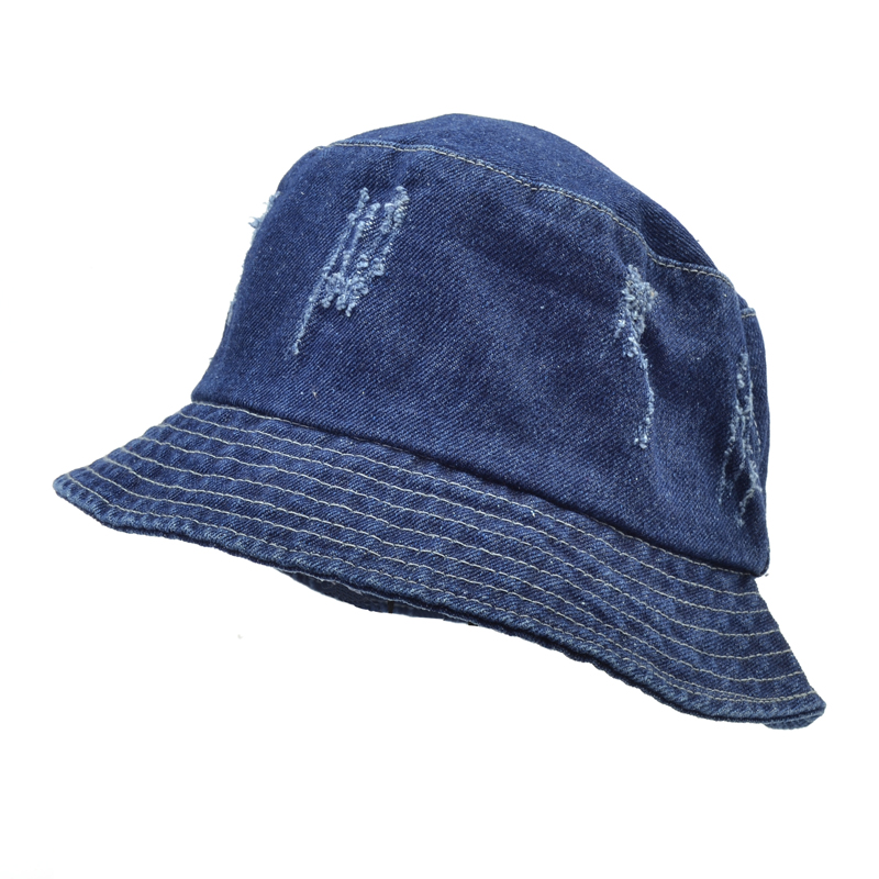 1b22b5a9 denim Women Men Bucket Hats Denim Distressed Brim Visor Sun Shade Fishing  Packable Summer Cap Hip
