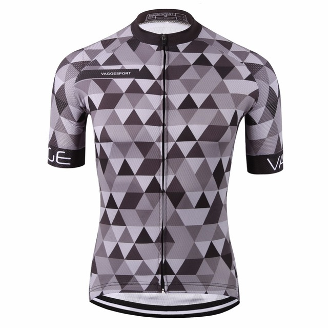 VAGGESPORT breathable dye sublimated bike cycling clothing/classic pro tour tight cycling top/mountain grey pro bike t-shirt