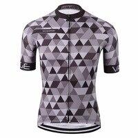VAGGESPORT nefes boya yüceltilmiş bisiklet bisiklet giyim/klasik pro tour sıkı bisiklet üst/dağ gri pro bisiklet t-shirt