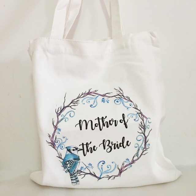 Free Shipping 5pcs lot custom logo Wedding bachelorette party gifts Canva bags bridesmaid gift bag