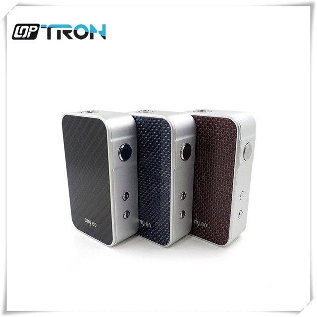 100% Оригинал SMY60 Box мод smy 60 Вт мод 5-60 Вт мощность e cig механических mod Цветной ЖК-экран SMY 60 Модов испаритель